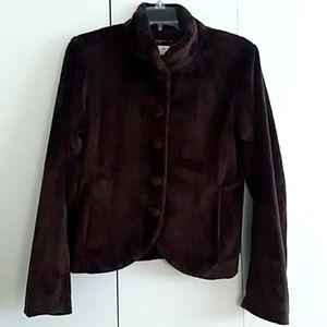 Agnes B Brown Faux Fur Lightweight Jacket Size 4/6